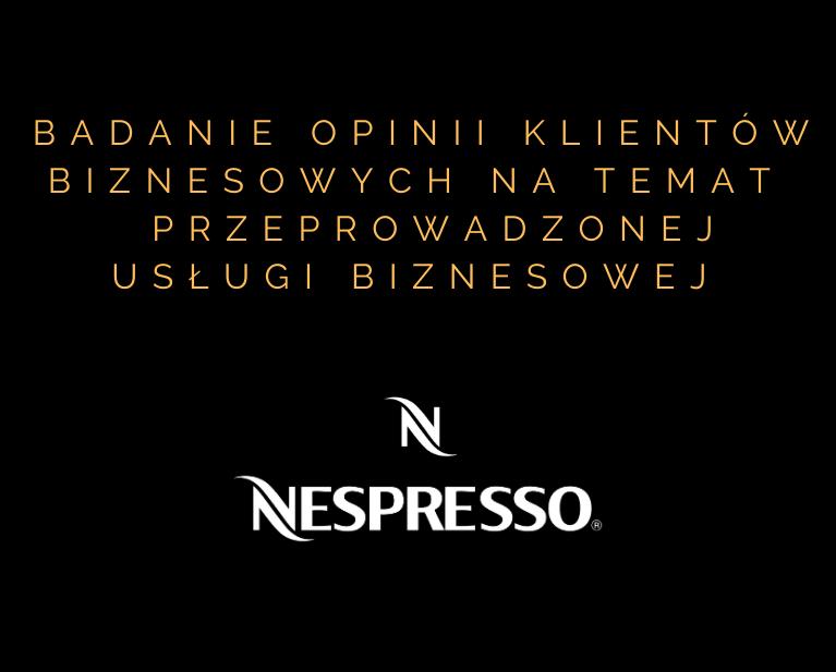 Badanie opinii Nespresso