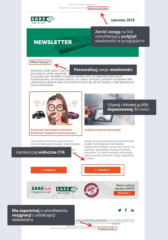 poprawny newsletter