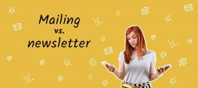 kobieta porównująca mailing newsletter różnice