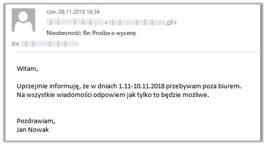mailing autoresponder jego zastosowanie przykład