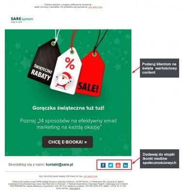 email marketing na święta przykład dobrego contentu