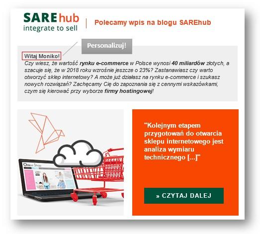personalizacja wmailingu zwiększa jego skuteczność funkcje sare
