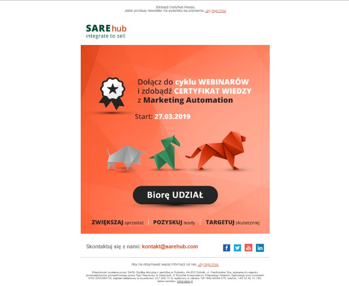 SARE Mailing newsletter