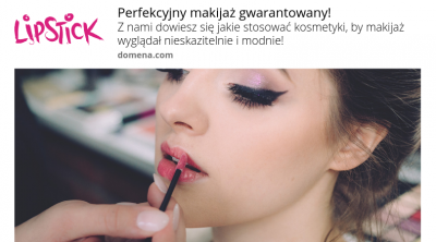 przykładowa kreacja web-push dla branży kosmetycznej