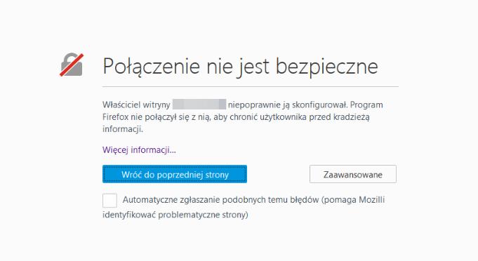 przeglądarka bezcertyfikatu SSL